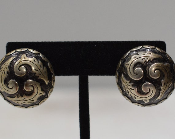 Earrings Silver Scroll Clip Earrings