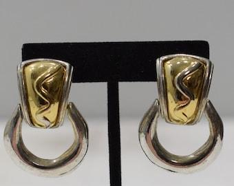 Earrings Gold Silver Hoop Clip Earrings