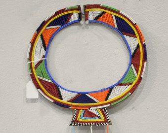 African Masai Beaded Collar Necklace Beaded Jewelry Masai Collar