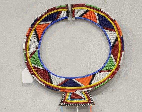 African Masai Beaded Collar Necklace Beaded Jewelry Masai Collar