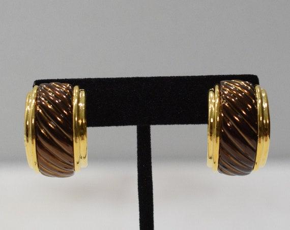 Earrings Gold  Copper Clip Earrings
