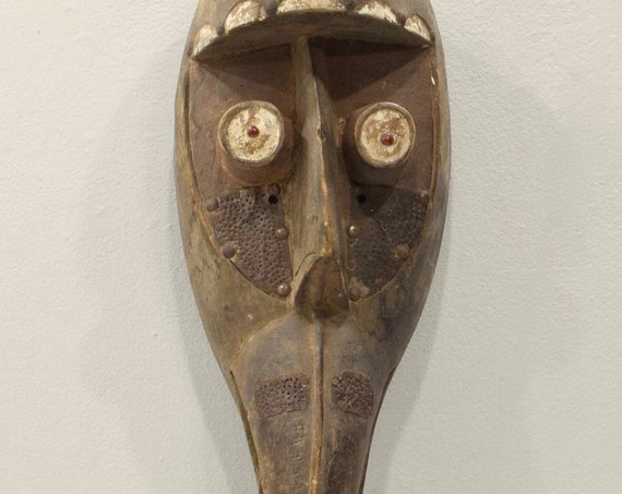 Mask African Wood Dan Beak Mask 24""