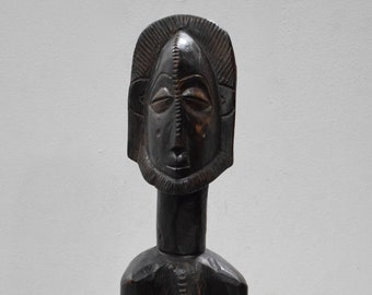 African Statue Lulua Tribe Carved Figure