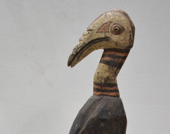 Papua New Guinea Bird Wood Statue Sabut Creation Myth Bird Protecton Bird