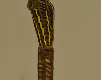 Papua New Guinea Dagger Payback Iatmul Bone Woven Orchid Stem Dagger