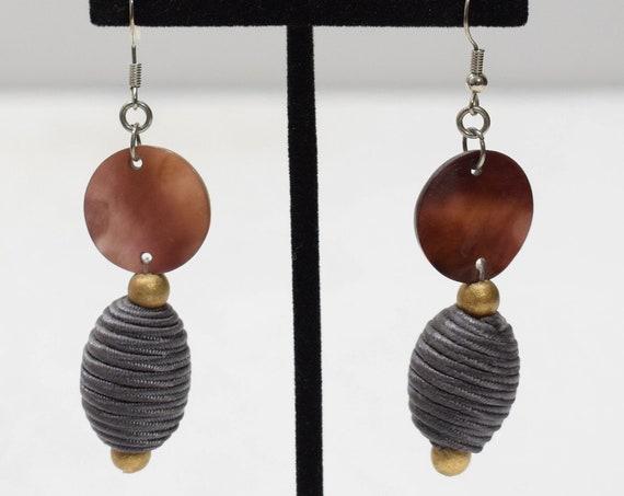 Earrings Linen Shell Dangle Earrings