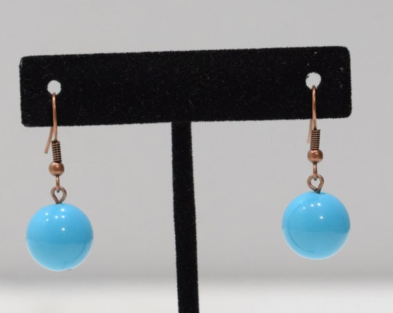 Earrings Turquoise Plastic Dangle Earrings