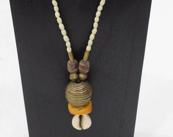 Necklace African Brass Cowrie Shell Necklace