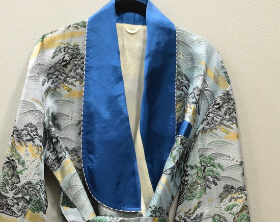 Jacket Japanese Blue Silk Tie Jacket