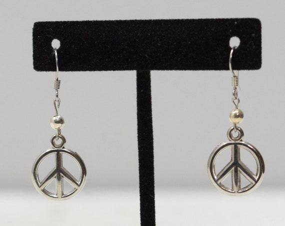 Earrings Silver Peace Symbol Earrings