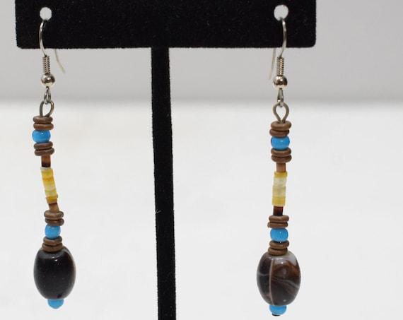 Earrings African Glass Beaded Earrings