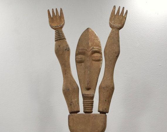 African Lega Statue Congo Male Pull Apart Lega Statue