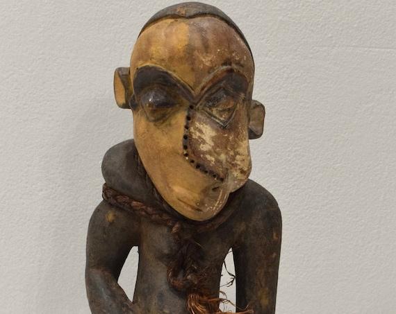 """African Statue Pende Congo Hunter Healer Wood Statue 19"""""""