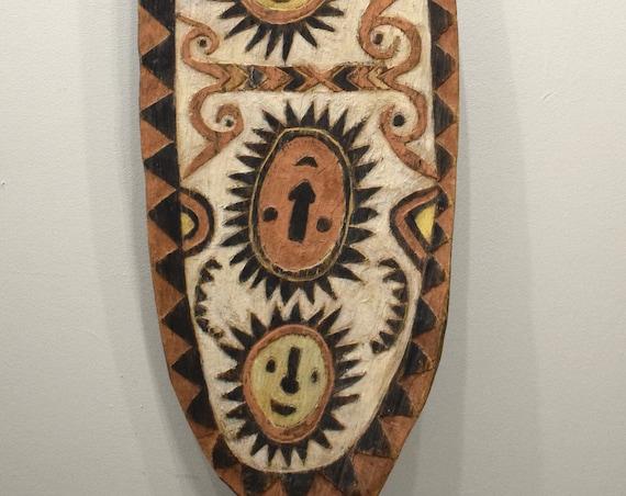 Papua New Guinea Board Ceremonial Spirit Clan Symbols Warfare Spiritual Clan Board