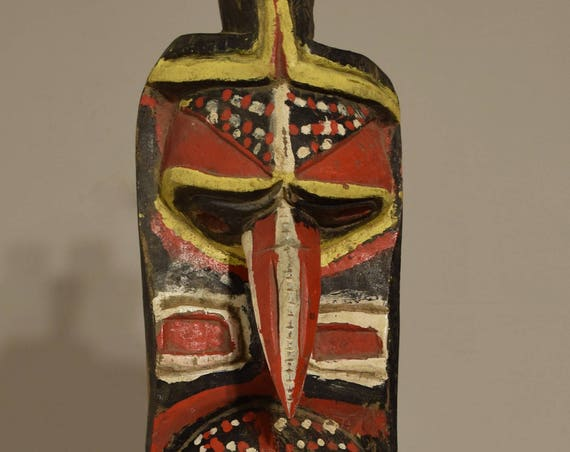 """Papua New Guinea Mask Yina Yam  Waskuk Ceremonial Wood Harvest Yam Mask 24"""""""
