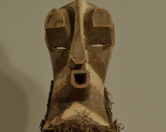 Mask African Songye Male Crest Mask
