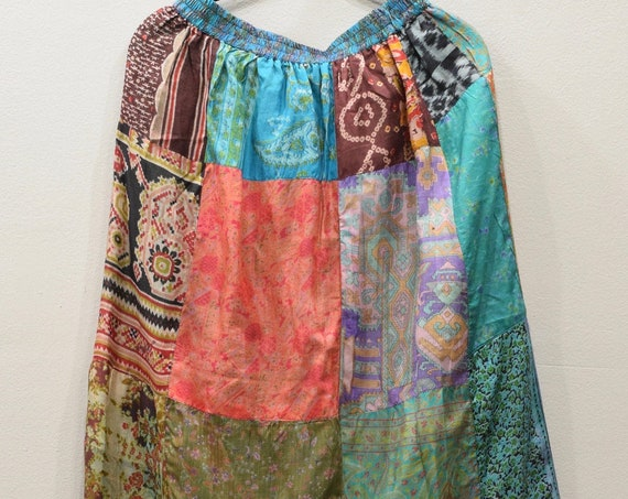 Skirt India Patchwork Silk Skirt