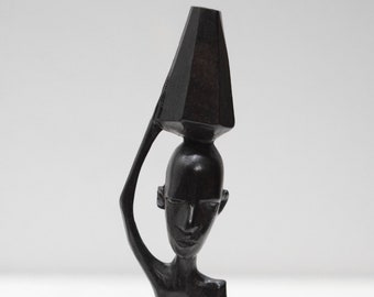African Statue Ebony Carved Wood Figure Tanzania Figure Statues