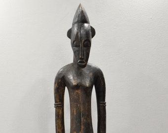 Statue African Senufo Wood Figure Mali