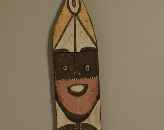 Papua New Guinea Yena Yam Figure Washuk Mountains Clan Painted Yena Figure 65""