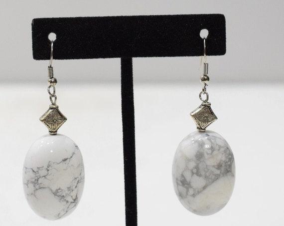 Earrings Chinese White Turquoise Earrings