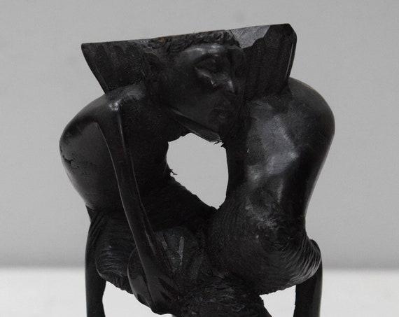 African Statue Abstract Ebony Tree of Life Makonde Tanzania