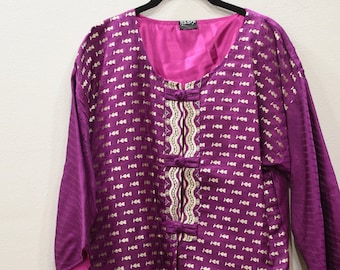 Jacket Silk Purple Brocade Jacket