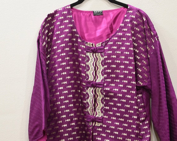 Jacket Silk Purple Brocade Jacket