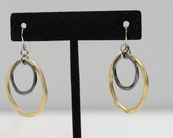 Earrings Gold Pewter Hoop Earrings