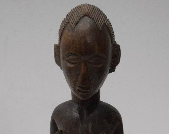 African Statue Bembe Tribe Male Femal Wood Carved Figures Bembe Tribe African Statue