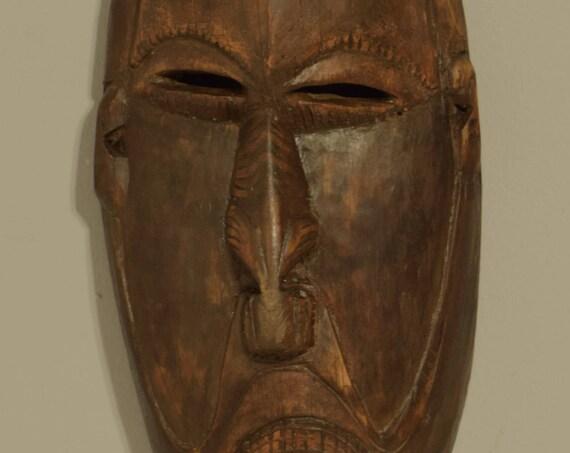 "Papua New Guinea Mask Spirit Mask Lower Sepik Ceremonial Male Mask 20"""