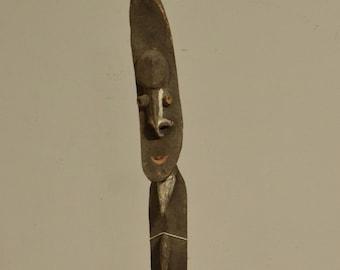 Papua New Guinea Figure One Leg Yipwon Village Statue
