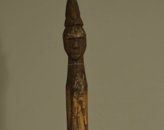 African Memorial Funeral Post Wood Chonyi/Giryama Kenya Handmade Memorial Ancestors Male Wood Spirit Memorial Post