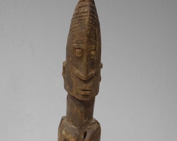 "African Dogon Female Wood Statue Mali 16"""