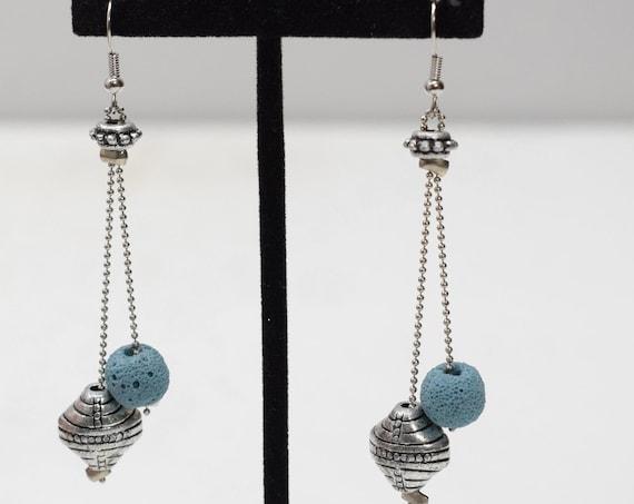 Earrings Silver Chain Dangle Earrings