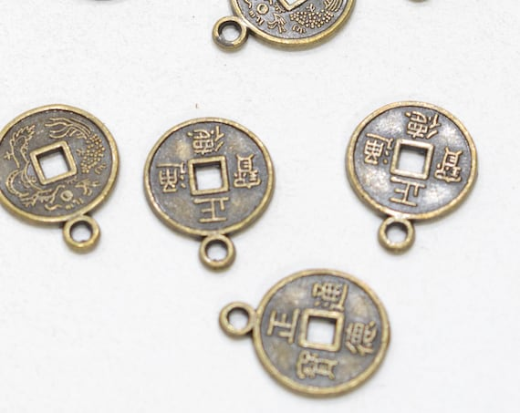 Beads Chinese I Ching Coins Beads 20mm