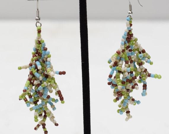 Earrings Multi Colored Glass Beaded Earrings