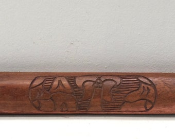 African Gameboard Mancala Carved Wood Folding Gameboard