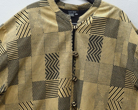 Jacket African Kuba Cotton Print Design Jacket