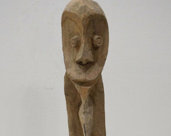 Papua New Guinea Hook Figure One Leg Yipwon Statue Black Water Lakes Hook Statue