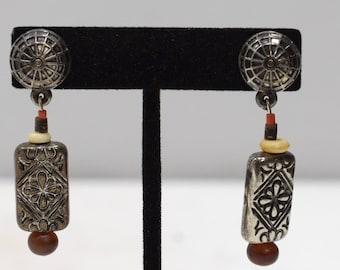 Earrings Silver Horn Post Earrings