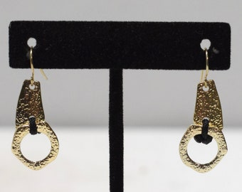 Earrings Gold Round Dangle Earrings