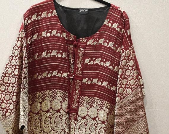 Jacket Silk Red Brocade Jacket