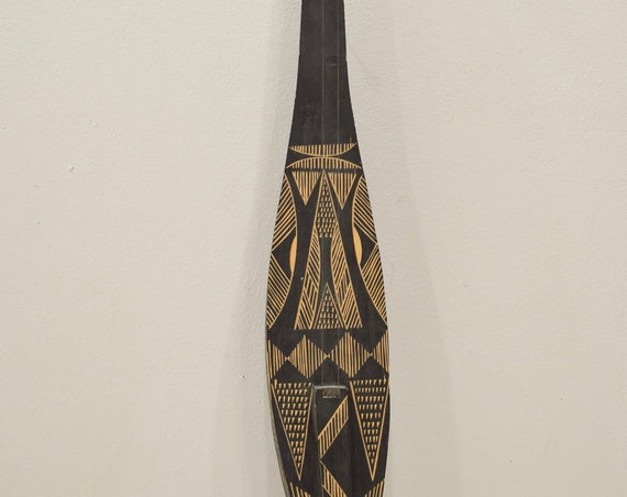 Solomon Islands Clan painted 2 String Guitar