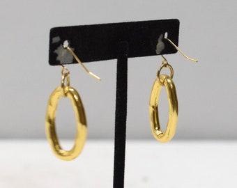Earrings Gold Oval Hoop Earrings