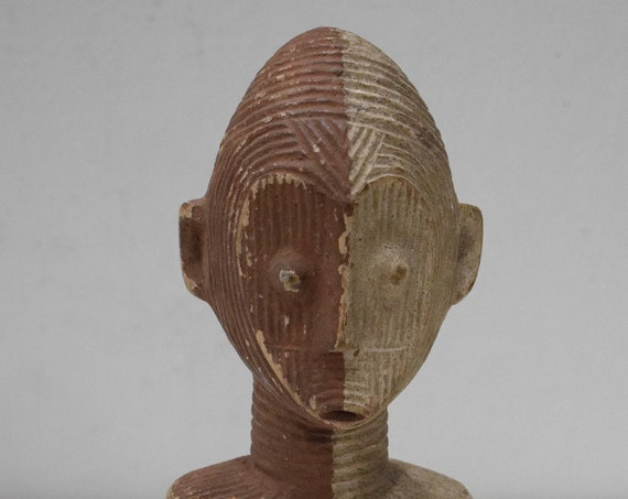 African Statue Chokwe Tribe Congo Abstract Carved Figure Chokwe Tribe