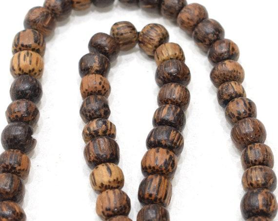 Beads Philippine Palmwood Round Beads 9-10mm