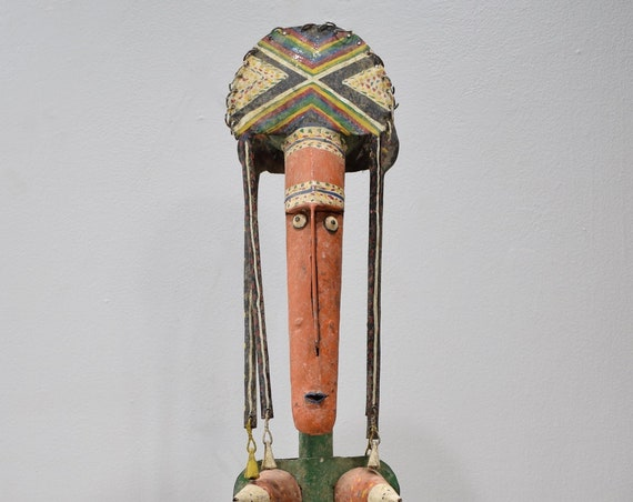 African Bambara Painted Metal Marionette Mali