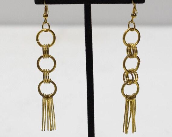 Earrings Gold Circle Dangle Earrings