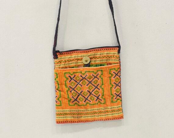 Shoulder Bag Hmong Hill Tribe Small Shoulder Emroidered Handbag